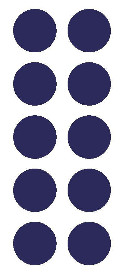 "1-1/2"" Sapphire Blue Round Color Coded Inventory Label Dots Stickers - Winter Park Products"