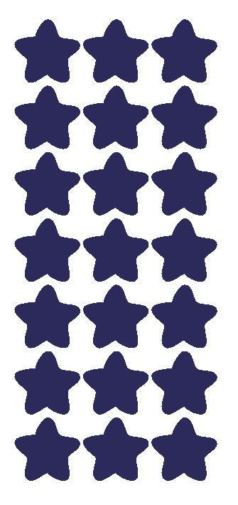 "1-1/4"" Sapphire Blue Star Stickers Wedding Envelope Seals School Arts & Crafts - Winter Park Products"