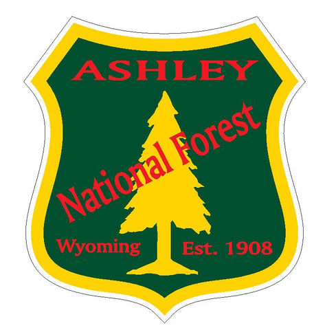 Ashley National Forest Sticker R3200 Wyoming