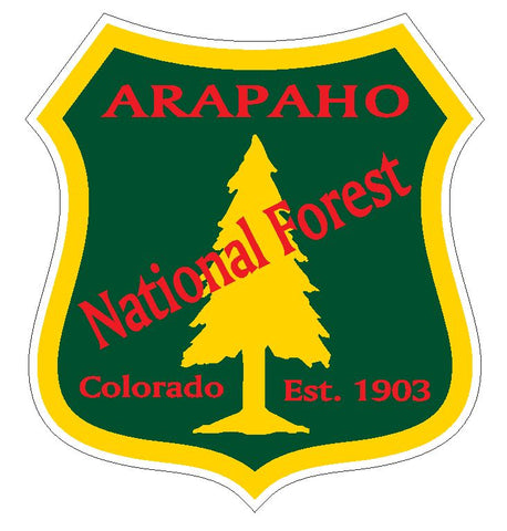 Arapaho National Forest Sticker R3199 Colorado