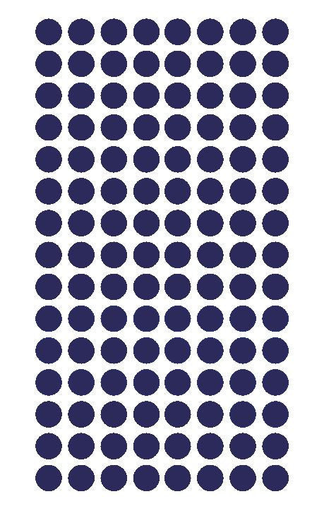 "1/4"" Sapphire Blue Round Color Coding Inventory Label Dots Stickers - Winter Park Products"