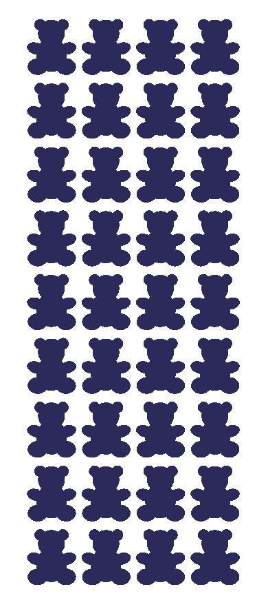 "1"" Sapphire Blue Teddy Bear Stickers Baby Shower Envelope Seals School arts Crafts - Winter Park Products"