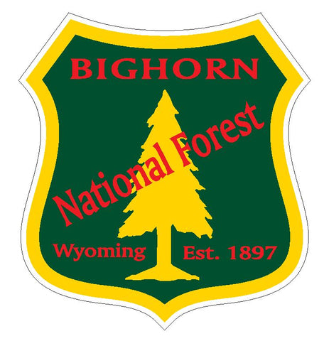 Bighorn National Forest Sticker R3203 Wyoming