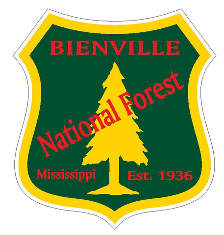 Bienville National Forest Sticker R3202 Mississippi