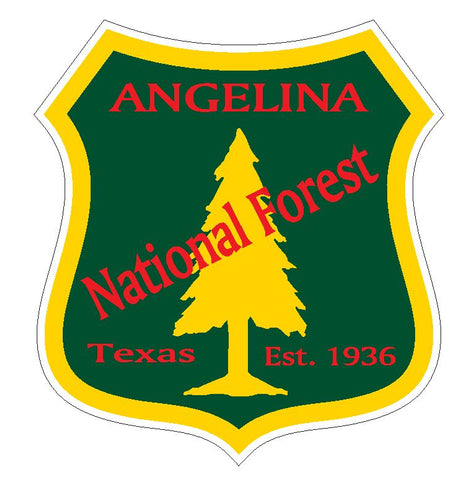 Angelina National Forest Sticker R3196 Texas