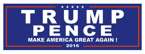 Trump Pence 2016 TRUMP FOR PRESIDENT BUMPER STICKER or Helmet Sticker D2743 - Winter Park Products