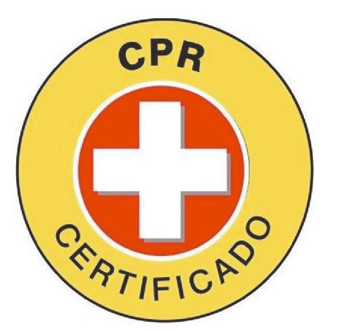 fae90a9468b Spanish CPR Certified Hard Hat Decal Hardhat Sticker Helmet Label H247 -  Winter Park Products