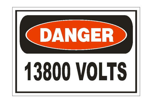 Danger 120//208 Volts Electrical Electrician Sticker Safety Sign Decal Label D227