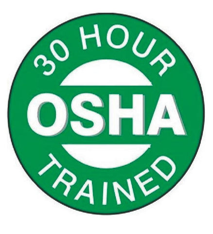 30 Hour OSHA Trained Hard Hat Decal Hardhat Sticker Helmet Label H230 - Winter Park Products