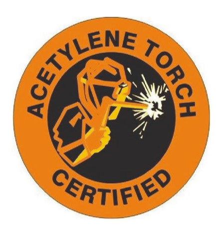 Acetylene Torch Certified Hard Hat Decal Hardhat Sticker Helmet Label H231 - Winter Park Products