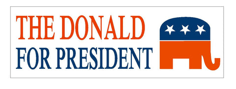 "DONALD TRUMP 2016 TRUMP FOR PRESIDENT BUMPER STICKER 3"" x 9"" D824 - Winter Park Products"