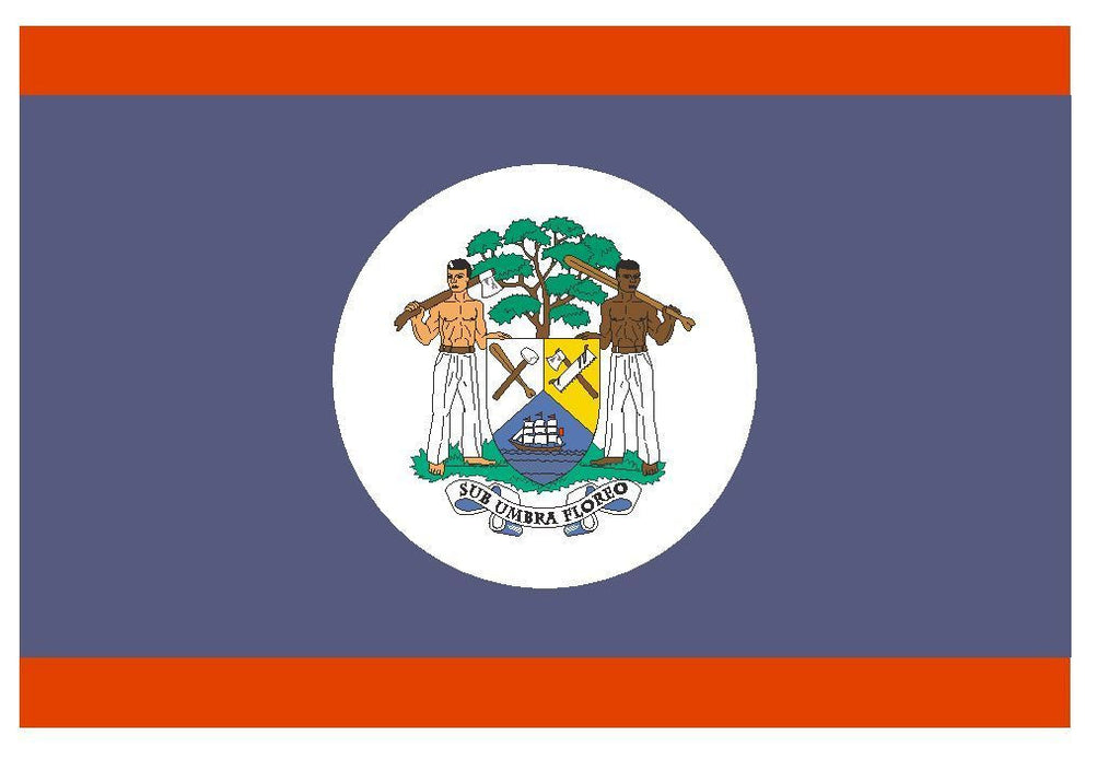 BELIZE Flag Vinyl International Flag DECAL Sticker MADE IN USA F52 - Winter Park Products