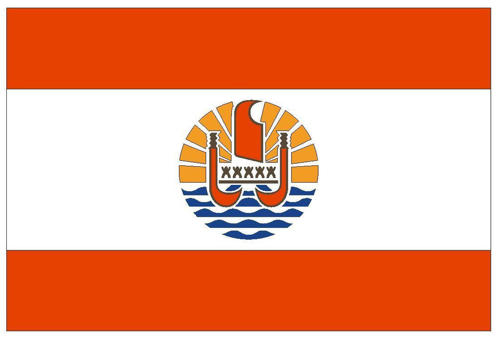 FRENCH POLYNESIA Vinyl International Flag DECAL Sticker MADE IN THE USA F176 - Winter Park Products