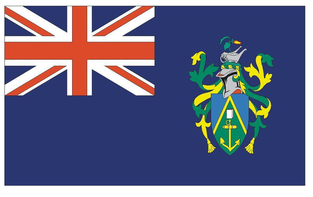 PITCAIRN ISLANDS Vinyl International Flag DECAL Sticker MADE IN THE USA F395 - Winter Park Products