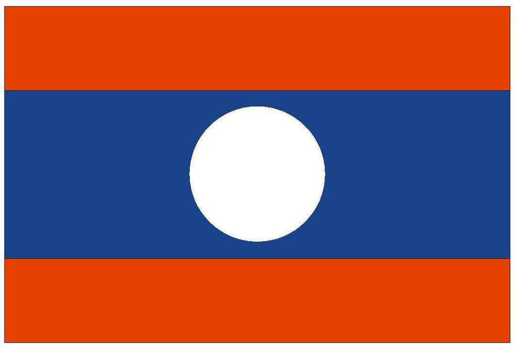 LAOS Vinyl International Flag DECAL Sticker MADE IN THE USA F270 - Winter Park Products