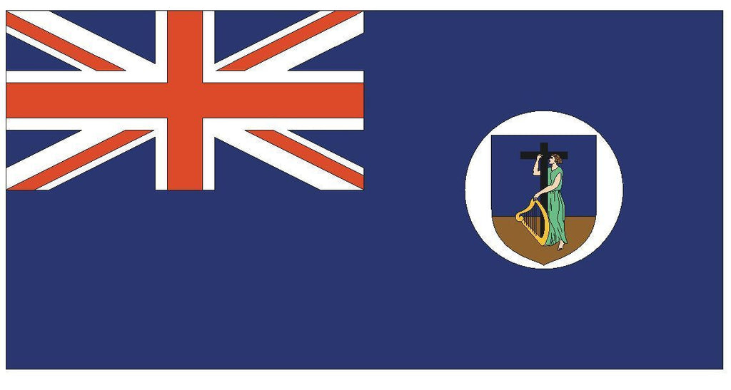 MONTSERRAT Vinyl International Flag DECAL Sticker MADE IN THE USA F319 - Winter Park Products