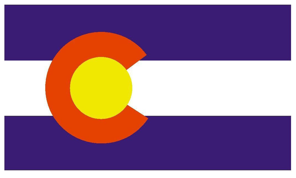 COLORADO Vinyl State Flag DECAL Sticker MADE IN THE USA F102 - Winter Park Products
