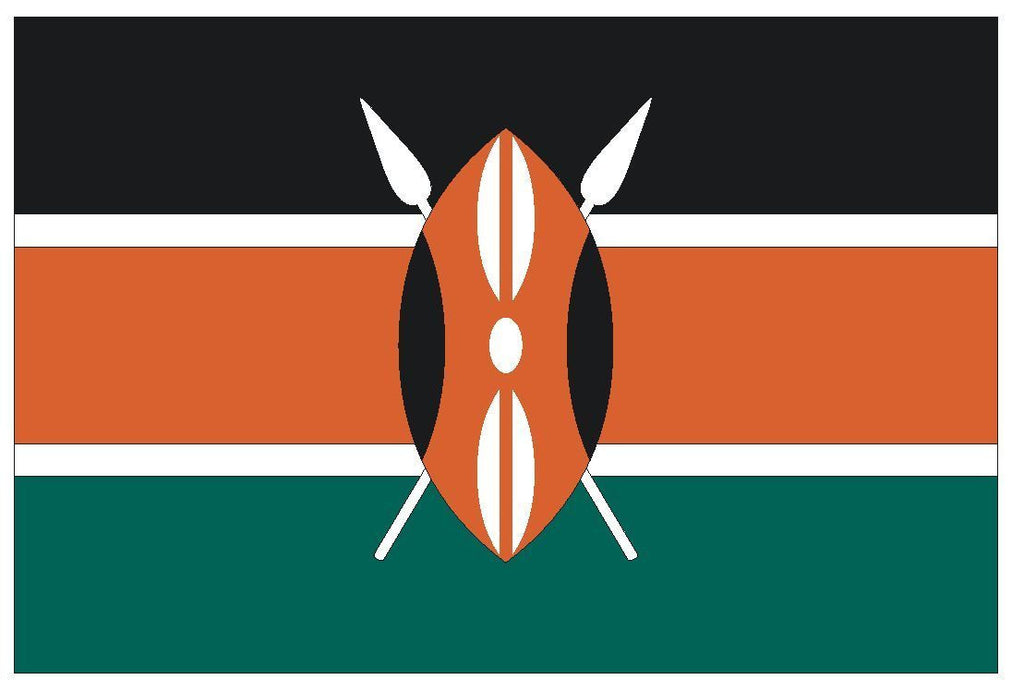 KENYA Vinyl International Flag DECAL Sticker MADE IN THE USA F258 - Winter Park Products