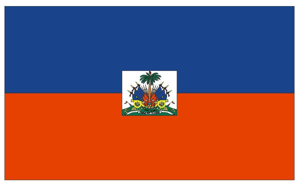HAITI Vinyl International Flag DECAL Sticker MADE IN THE USA F207 - Winter Park Products