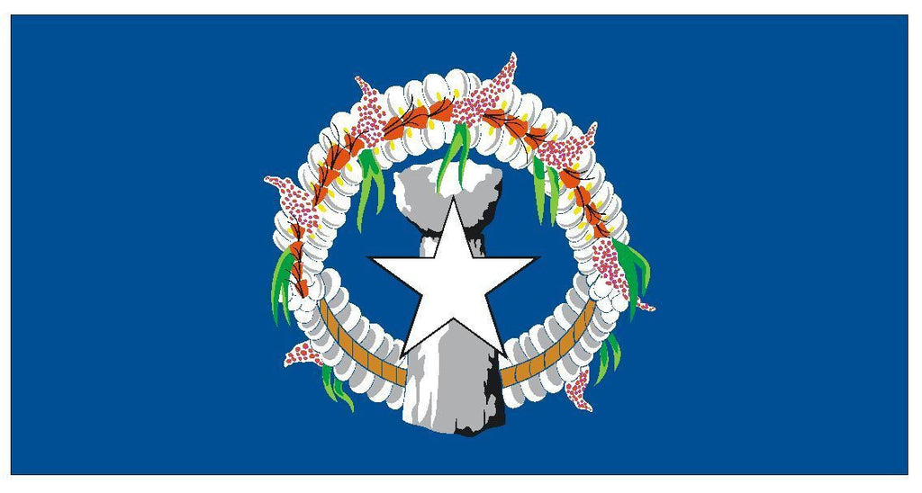 NORTHERN MARIANA ISLANDS Vinyl International Flag DECAL Sticker USA MADE F359 - Winter Park Products