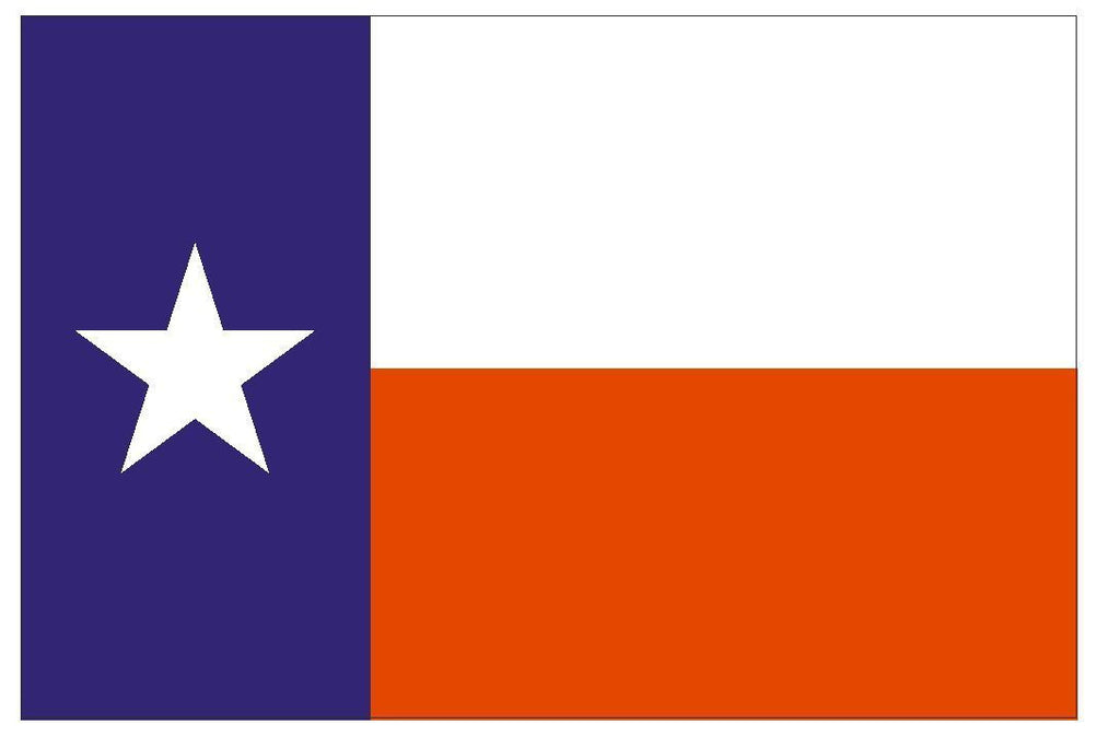 TEXAS Vinyl State Flag DECAL Sticker MADE IN THE USA F503 - Winter Park Products