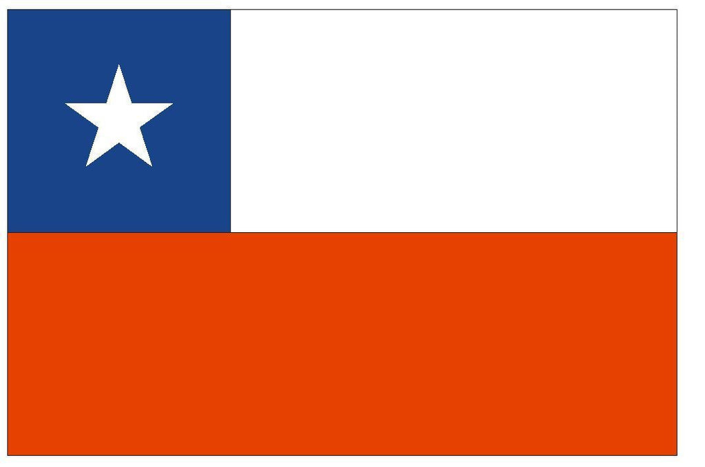 CHILE Vinyl International Flag DECAL Sticker MADE IN USA F94 - Winter Park Products