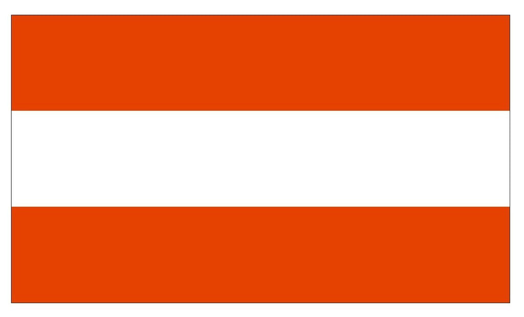 AUSTRIA Flag Vinyl International Flag DECAL Sticker MADE IN USA F41 - Winter Park Products