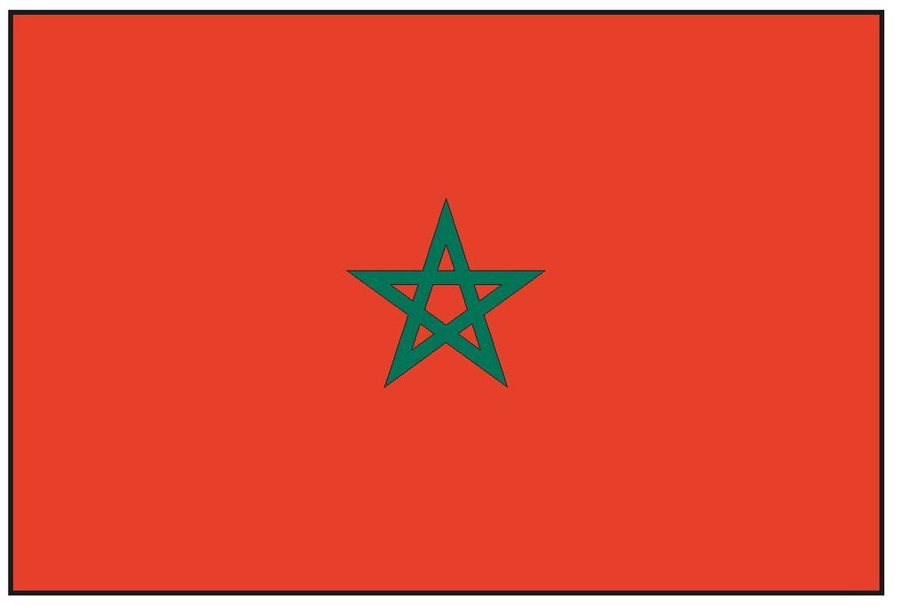 MOROCCO Vinyl International Flag DECAL Sticker MADE IN THE USA F321 - Winter Park Products
