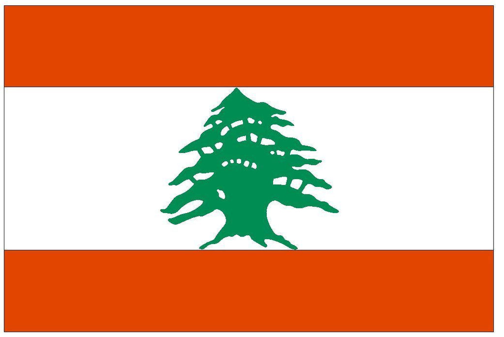 LEBANON Vinyl International Flag DECAL Sticker MADE IN THE USA F274 - Winter Park Products