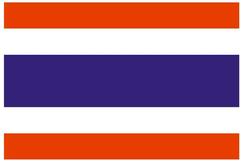 THAILAND Vinyl International Flag DECAL Sticker MADE IN THE USA F504 - Winter Park Products