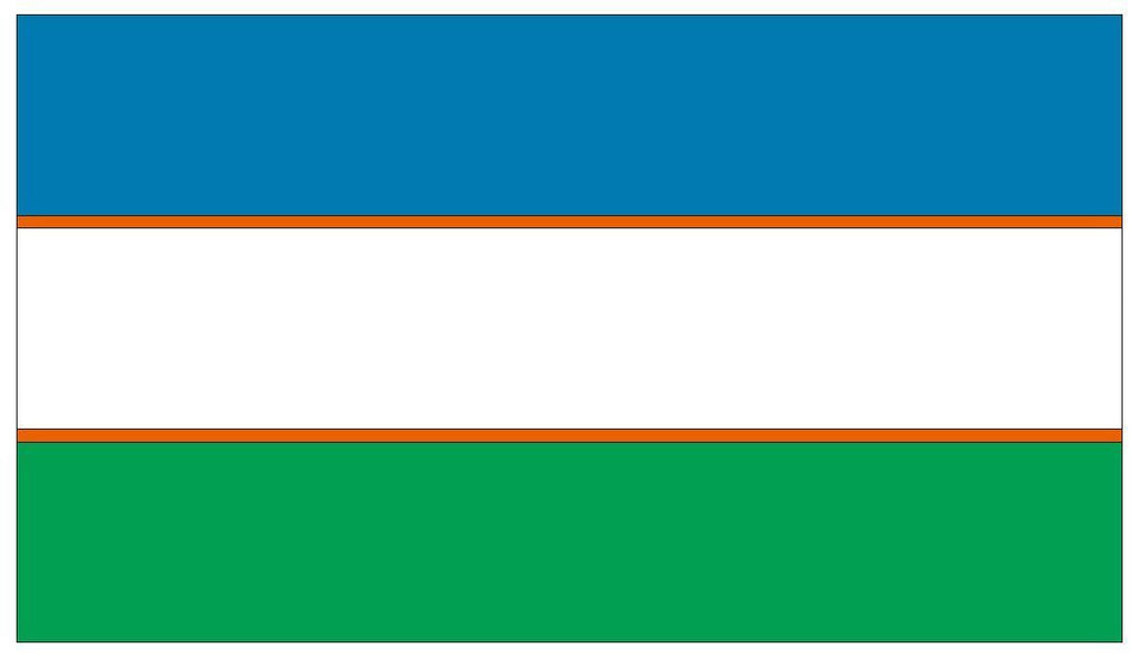 UZBEKISTAN Vinyl International Flag DECAL Sticker MADE IN THE USA F544 - Winter Park Products
