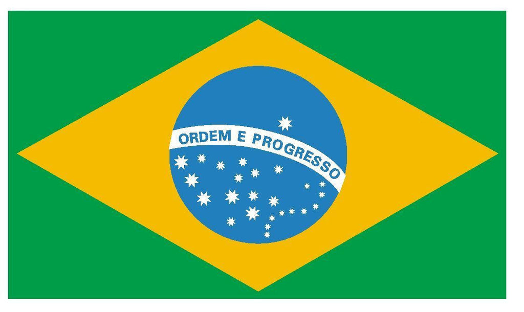 BRAZIL Flag Vinyl International Flag DECAL Sticker MADE IN USA F67 - Winter Park Products