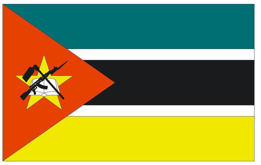 MOZAMBIQUE Vinyl International Flag DECAL Sticker MADE IN THE USA F322 - Winter Park Products
