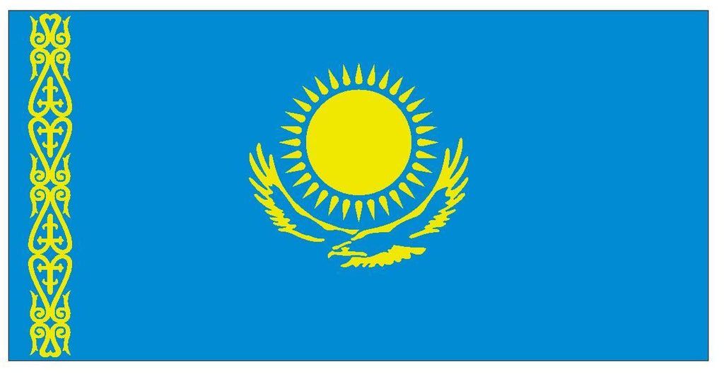 KAZAKHSTAN Vinyl International Flag DECAL Sticker MADE IN THE USA F255 - Winter Park Products