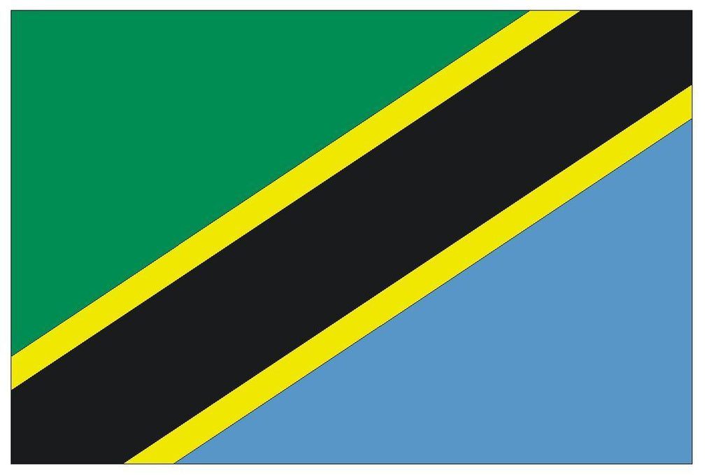 TANZANIA Vinyl International Flag DECAL Sticker MADE IN THE USA F492 - Winter Park Products