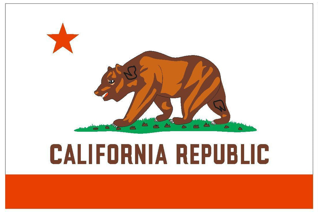 CALIFORNIA Flag Vinyl International Flag DECAL Sticker MADE IN USA F79 - Winter Park Products