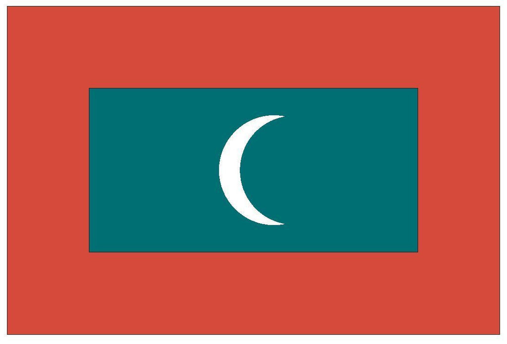 MALDIVES Vinyl State Flag DECAL Sticker MADE IN THE USA F299 - Winter Park Products