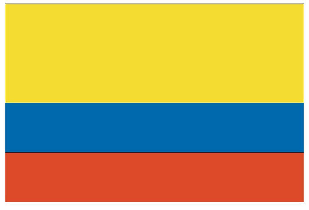 COLOMBIA Vinyl International Flag DECAL Sticker MADE IN THE USA F101 - Winter Park Products