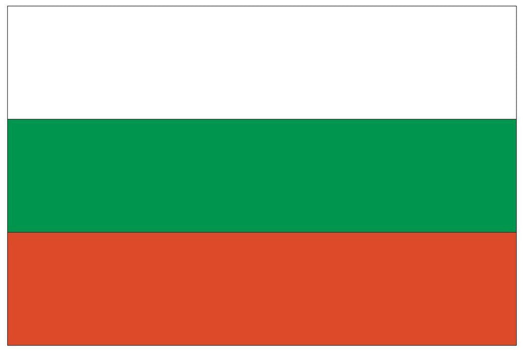 BULGARIA Flag Vinyl International Flag DECAL Sticker MADE IN USA F74 - Winter Park Products