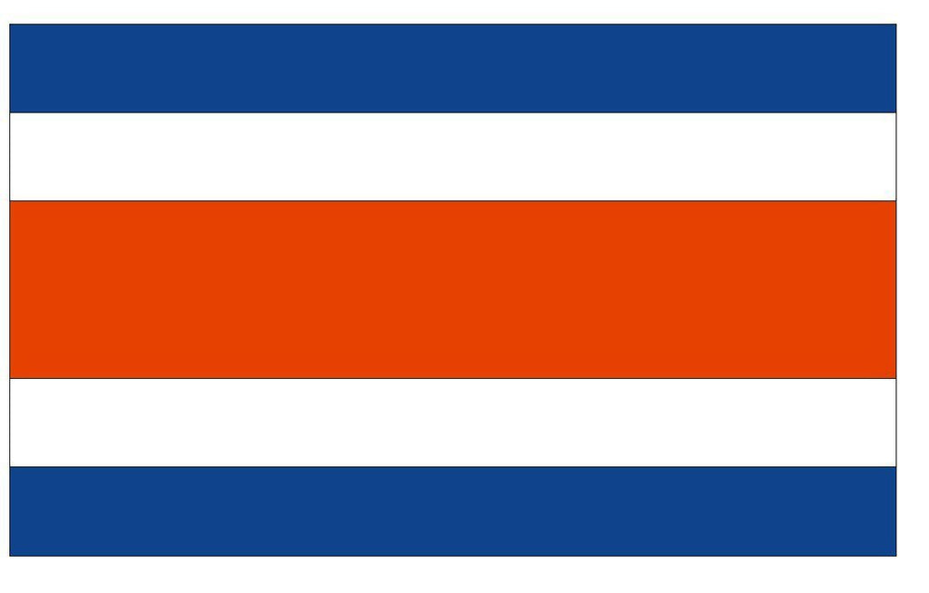 COSTA RICA Vinyl International Flag DECAL Sticker MADE IN THE USA F120 - Winter Park Products