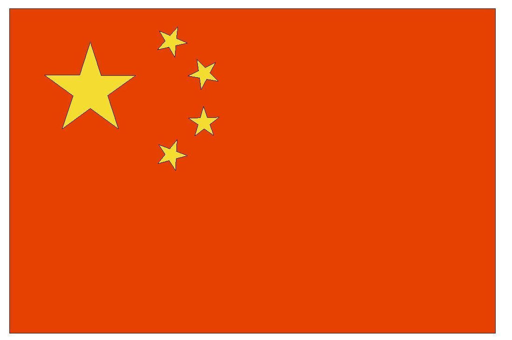 CHINA Vinyl International Flag DECAL Sticker MADE IN USA F95 - Winter Park Products