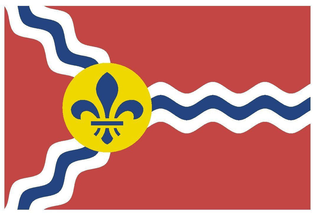 SAINT LOUIS Missouri Vinyl City Flag DECAL Sticker MADE IN THE USA F432 - Winter Park Products