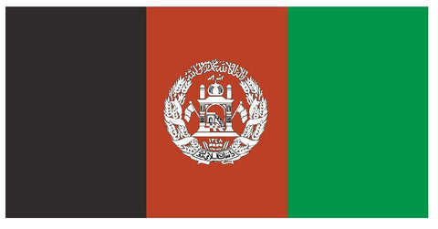 AFGHANISTAN Vinyl International Flag DECAL Sticker MADE IN USA F08 - Winter Park Products