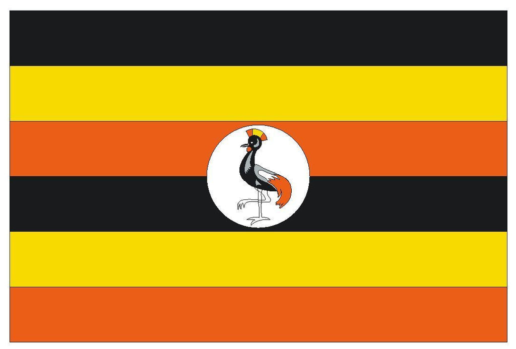 UGANDA Vinyl International Flag DECAL Sticker MADE IN THE USA F523 - Winter Park Products