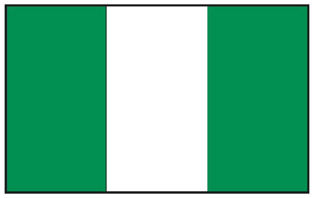 NIGERIA Vinyl International Flag DECAL Sticker MADE IN THE USA F352 - Winter Park Products