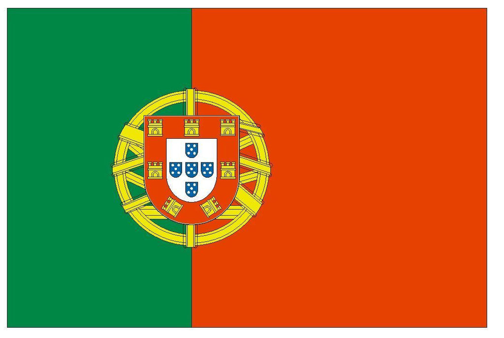 PORTUGAL Spain Vinyl International Flag DECAL Sticker MADE IN THE USA F400 - Winter Park Products