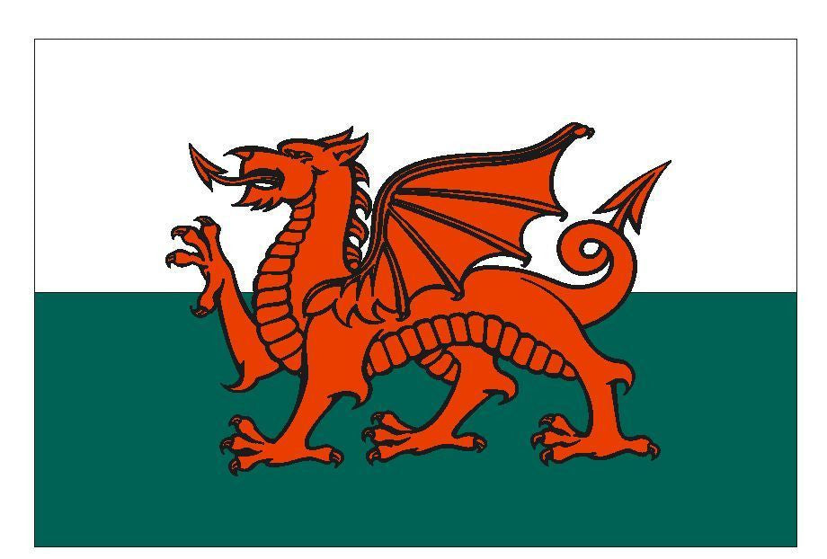 WALES Vinyl International Flag DECAL Sticker MADE IN THE USA F546 - Winter Park Products