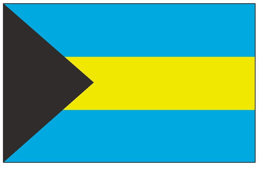 BAHAMAS Flag Vinyl International Flag DECAL Sticker MADE IN USA F45 - Winter Park Products