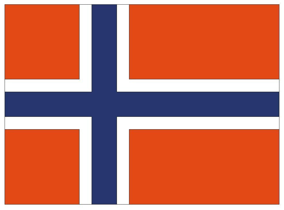 NORWAY Vinyl International Flag DECAL Sticker MADE IN USA F364 - Winter Park Products