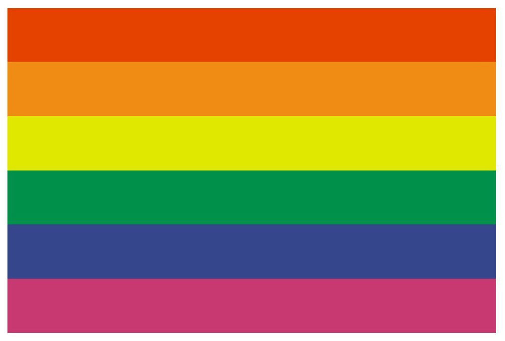 GAY PRIDE Vinyl International Flag DECAL Sticker MADE IN THE USA F184 - Winter Park Products